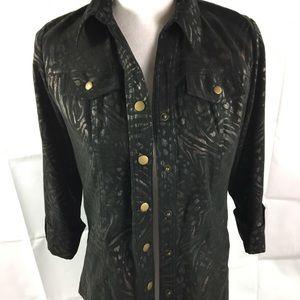 JM collection blazer jacket animal print SP